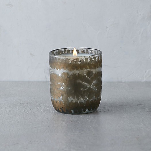 Etched Glass Candle, Grapefruit & Pine