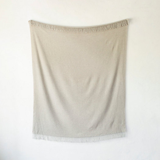 Solid Merino Wool Throw