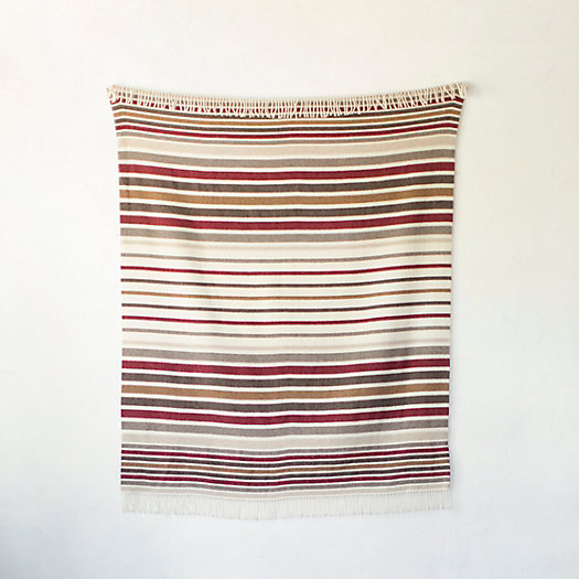 Striped Merino Wool Throw