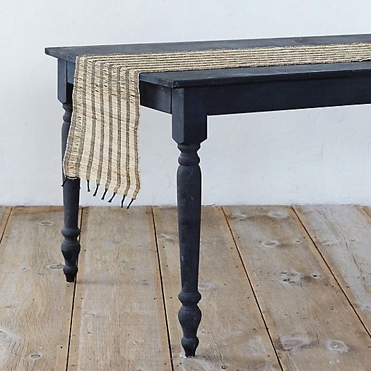 Striped Straw Table Runner