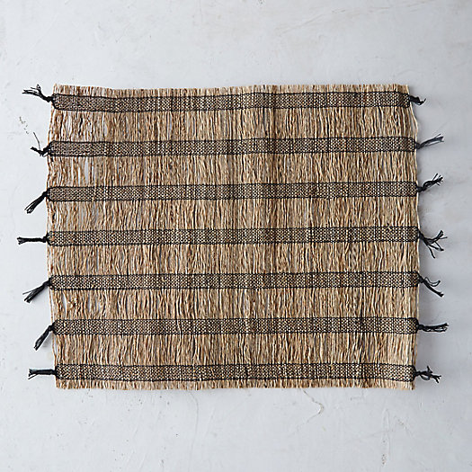 Striped Straw Placemat