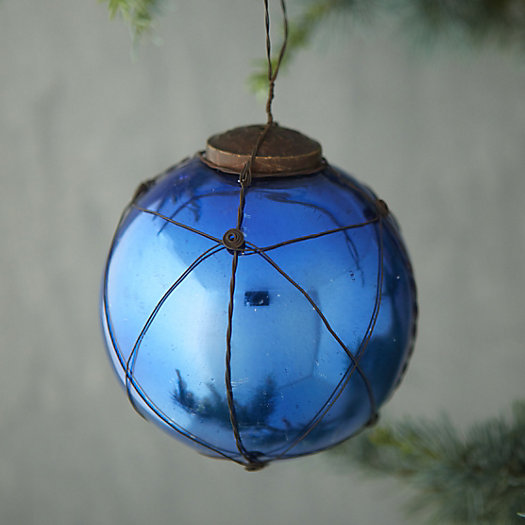 Wire Wrapped Globe Ornament
