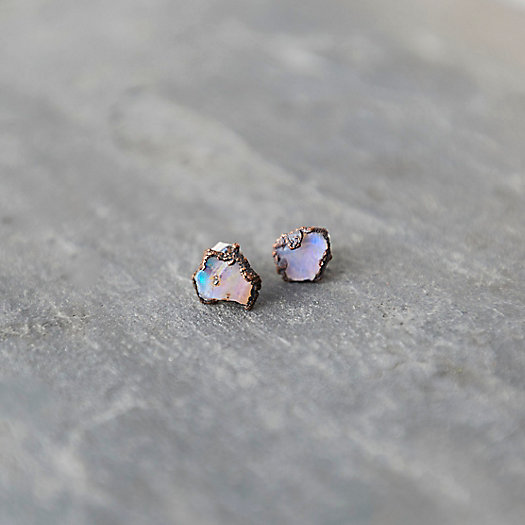 Raw Opal Stud Earrings