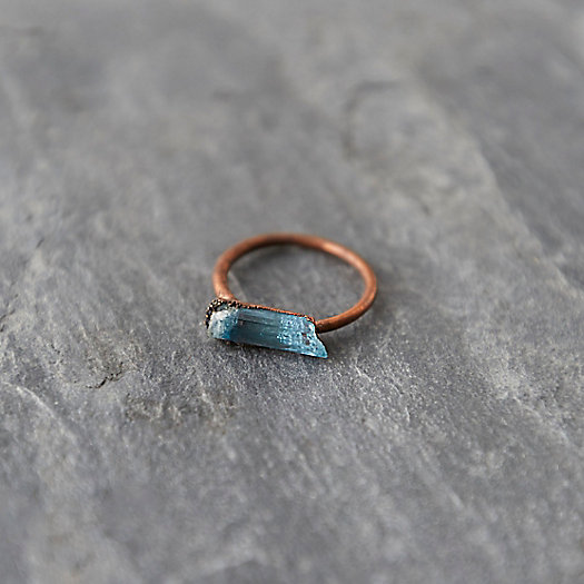 Aquamarine Prism Ring