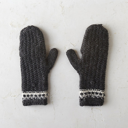 Banded Alpaca Mittens