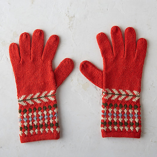 Fair Isle Alpaca Gloves