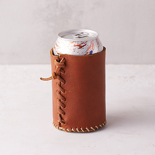 Stitched Leather Drink Sleeve
