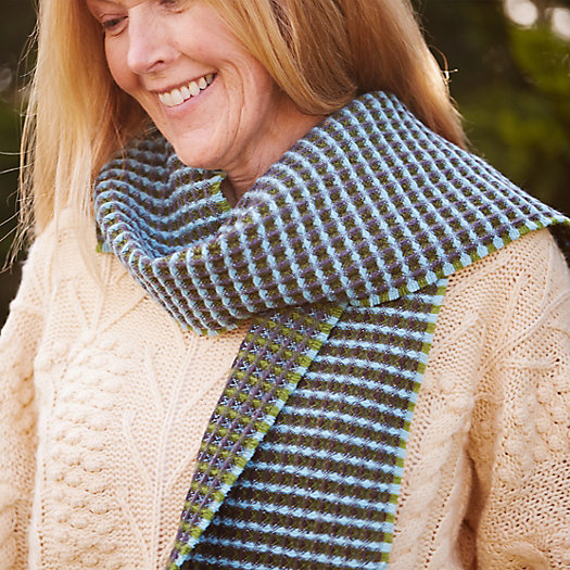 Wallace Sewell Honeycomb Lambswool Scarf