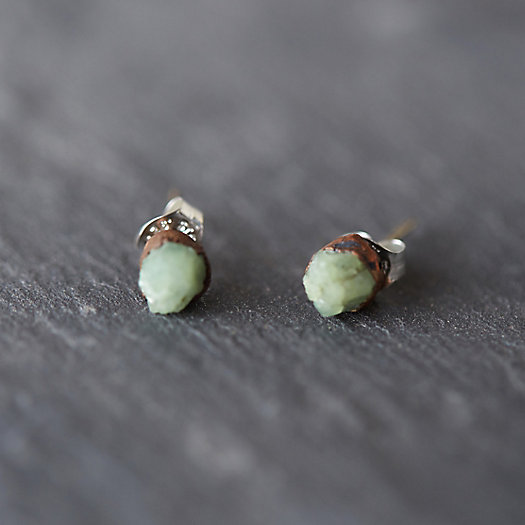 Green Garnet Stud Earrings