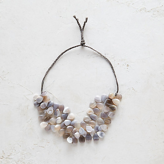 Agate Pathway Collar Necklace