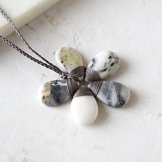 Jasper Flower Necklace