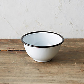 Enamel Footed Bowl