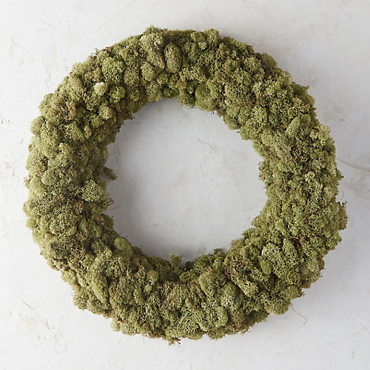 Mint Reindeer Moss Wreath
