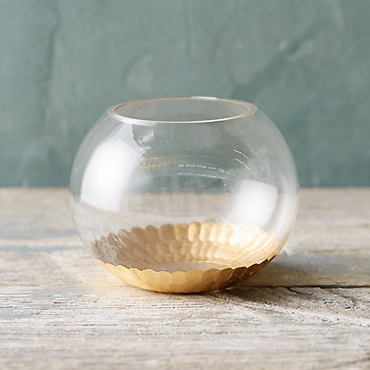 Gold Dipped Bowl Terrarium