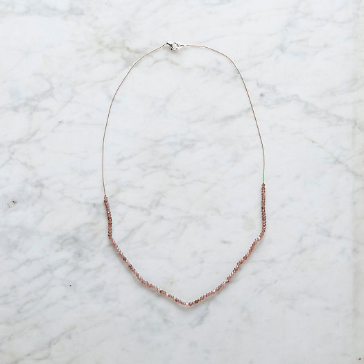 Cocoa Moonstone Strand Necklace