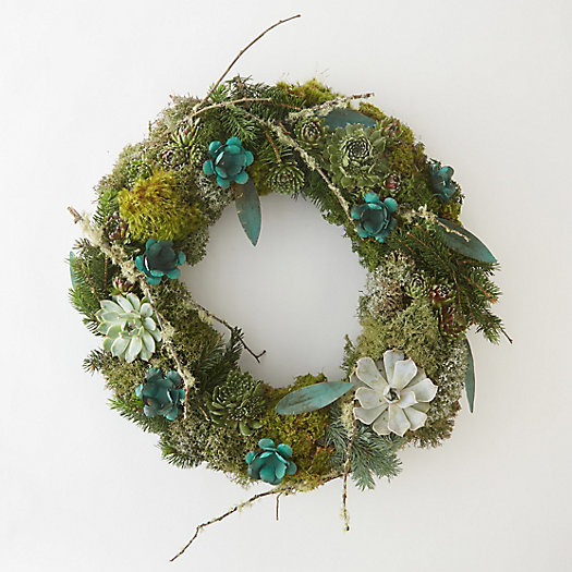 Copper Succulent & Moss Wreath