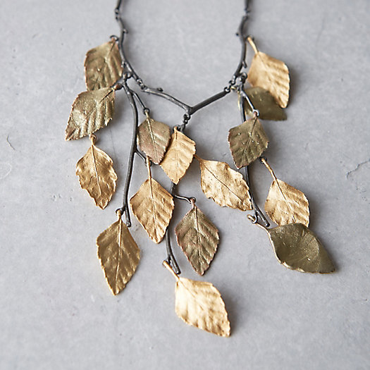 Birch Foliage Bib Necklace