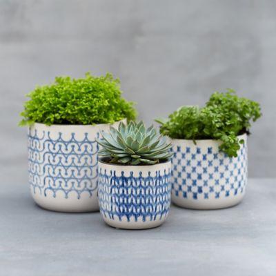 Nordic Print Ceramic Pot