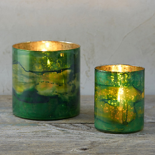 Watercolor Glass Votive