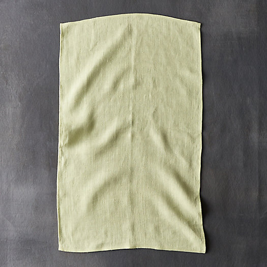 Pure Linen Tea Towel, Citron