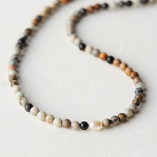 Jasper & Pearl Necklace