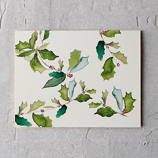 Holly Boughs Card