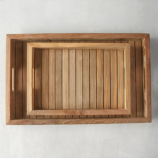 Slatted Teak Serving Tray