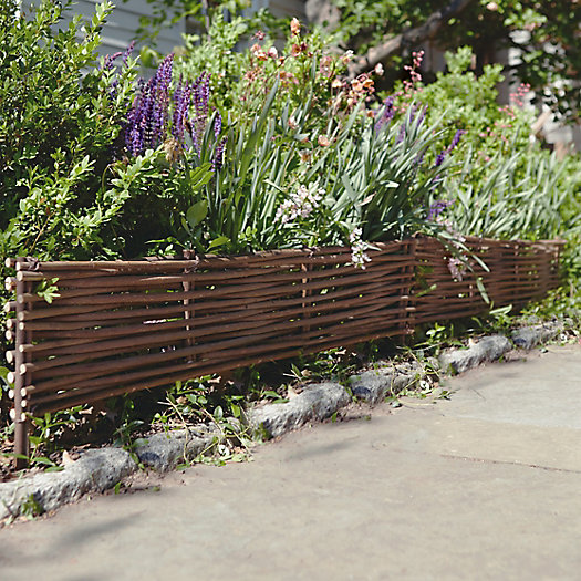 Willow Twig Border Fence, Set of 4