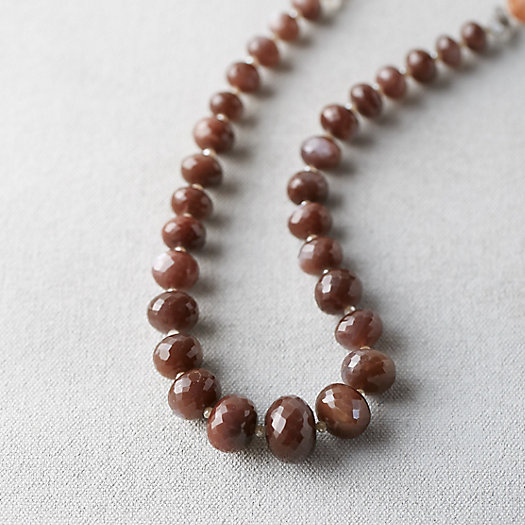 Chocolate Moonstone Rondelle Necklace