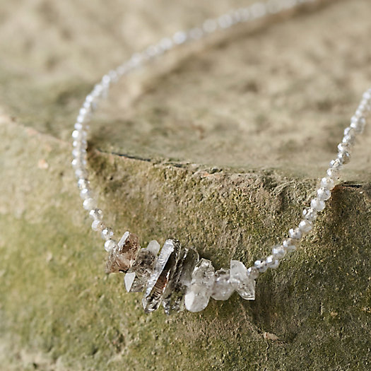 Herkimer Diamond Bridge Necklace