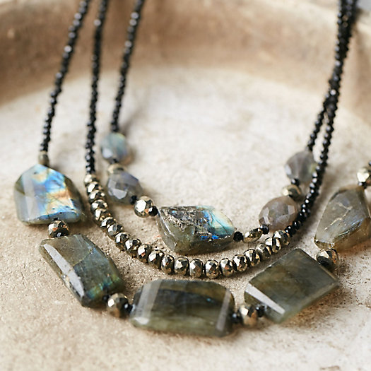 Labradorite + Spinel Necklace