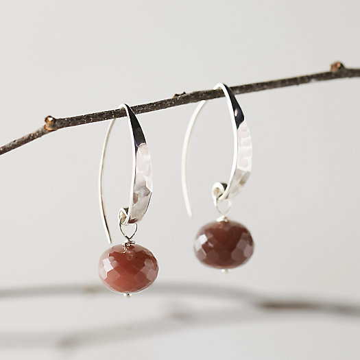 Chocolate Moonstone Drop Earrings