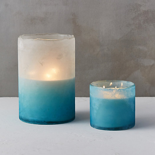 Linnea's Lights Frosted Candle, Sea Salt