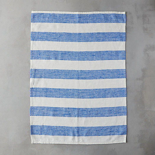 Lithuanian Linen Tea Towel, Wide Stripe