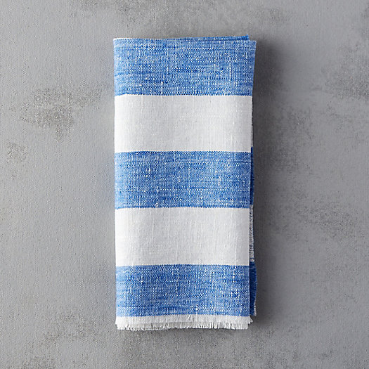 Lithuanian Linen Napkin, Wide Stripe