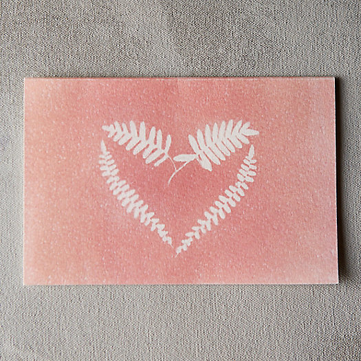 Fern Heart Card