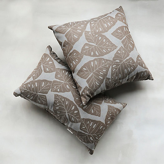 Tropical Leaves Outdoor Pillow