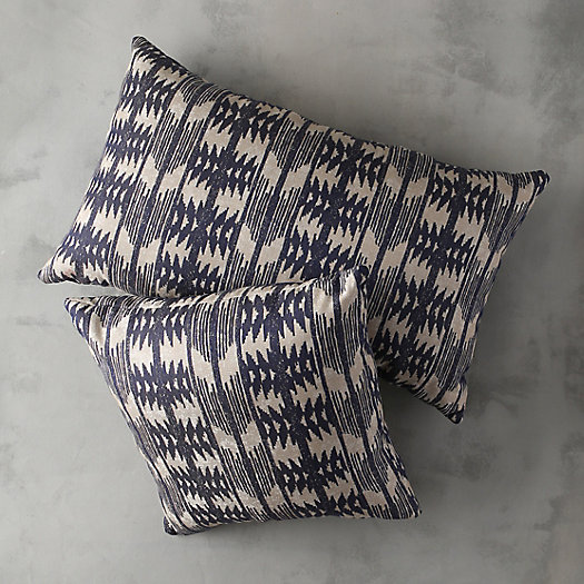 Geometric Indigo Outdoor Pillow