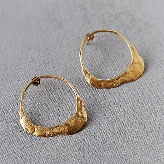Molten Gold Hoop Earrings