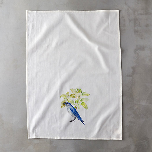 Woodland Watercolor Tea Towel