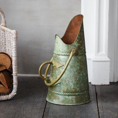 Verdigris Copper Ash Bucket