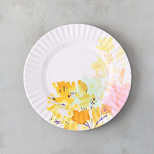 Watercolor Garden Picnic Dinner Plates