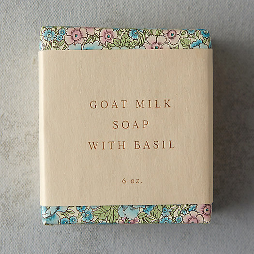 Saipua Goat Milk Soap with Basil