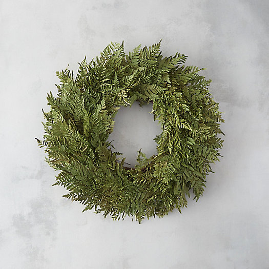 Preserved Parchment Fern Wreath