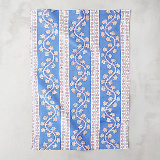 Blue Orchard Tea Towel
