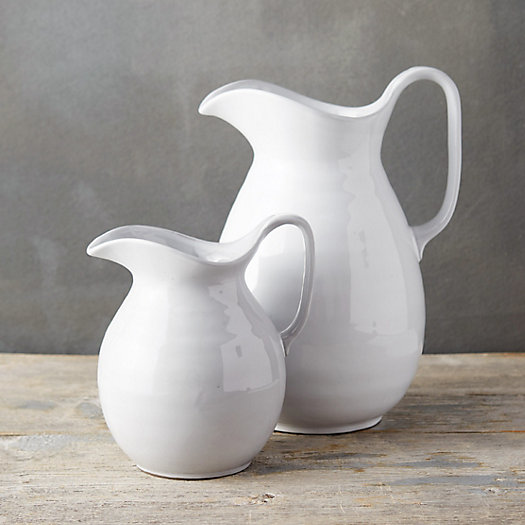 Azure Blooms Stoneware Pitcher