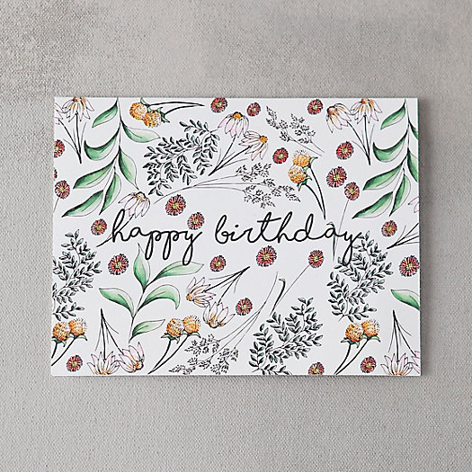 Scattered Stems Birthday Card