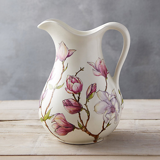 Painted Flowers Pitcher