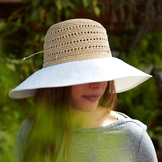 Cotton & Raffia Round Brim Hat