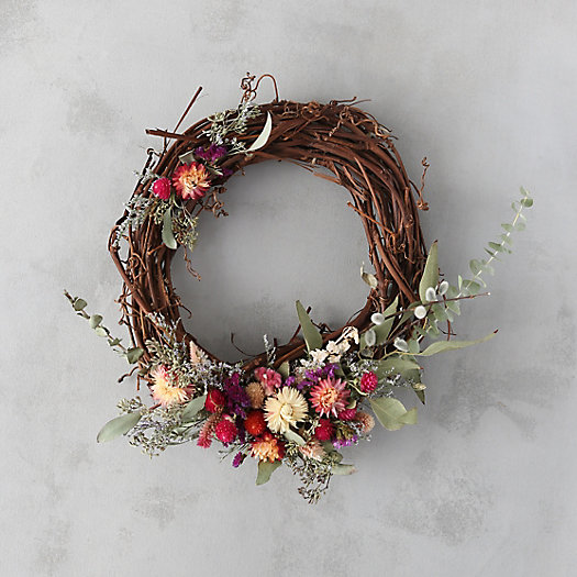 Strawflower & Eucalyptus Wreath